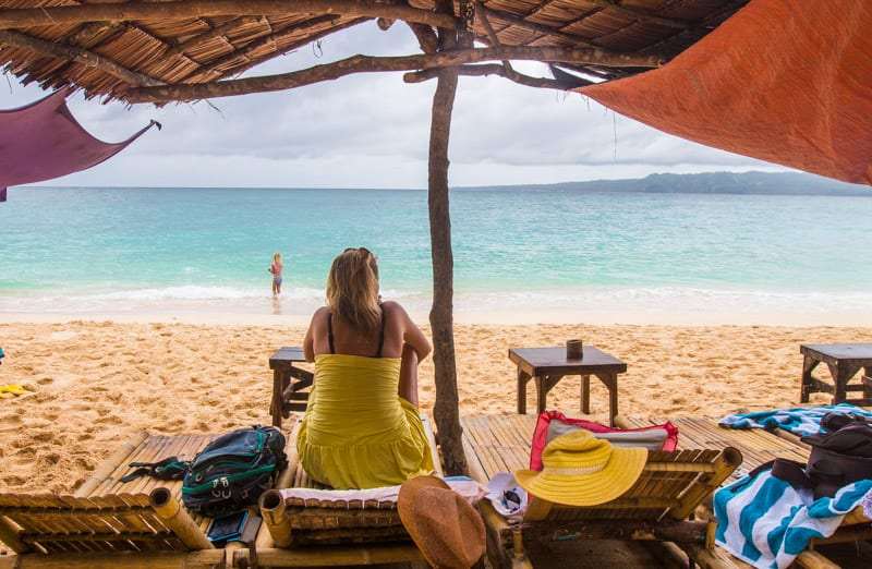 Puka Beach on Boracay Island in the Philippines
