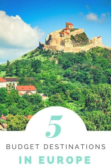 Want to travel Europe on a budget? Here are 5 budget European destinations to suit all travel interests. Plus tips on how to travel Europe on a budget. Click to read more. Happy pinning!