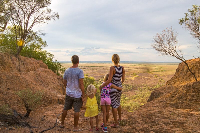 Family travel in Outback Queensland, Australia