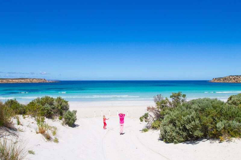 Fishery Bay on the EAst Coast of the Eyre Peninsula has to be one of the best beaches in Australia. It's a good stopover on your road trip with kids in South Australia. Click to read more tips on things to do on the Eyre Peninsula