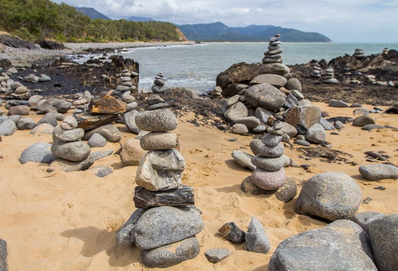 Rock towers on the Great Barrier Reef Drive to Port Douglas