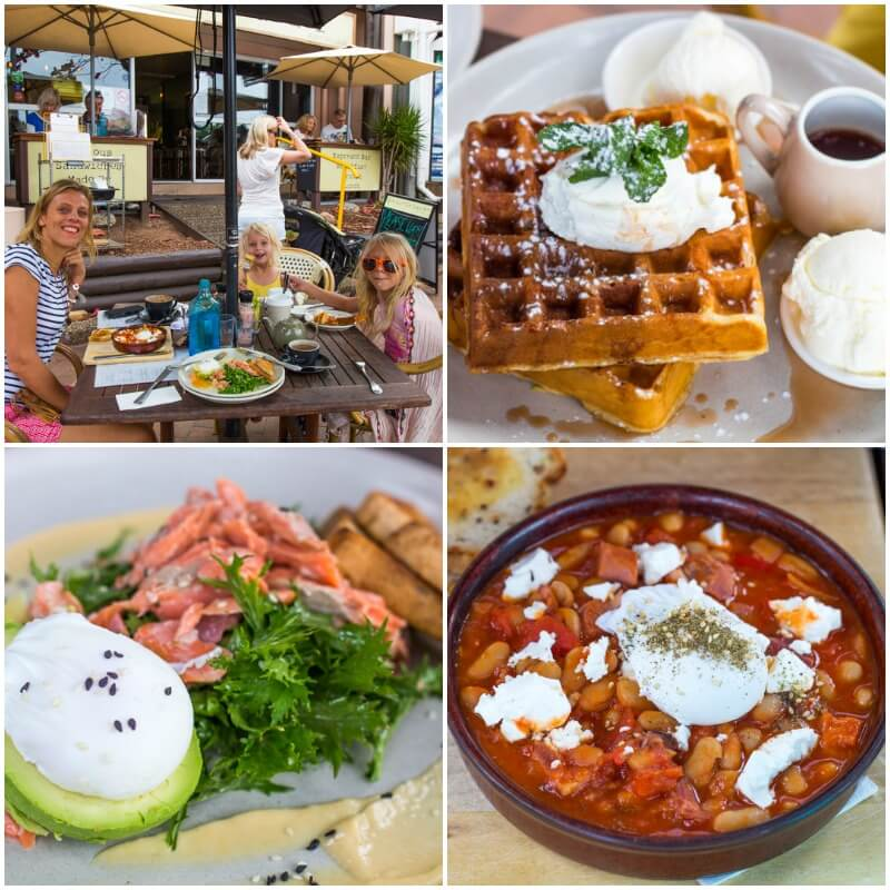 Yummy breakfast at The Little Larder Cafe in Port Douglas, Queensland, Australia