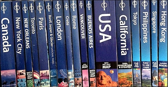 Lonely Planet Books - one of the best travel gifts for travelers