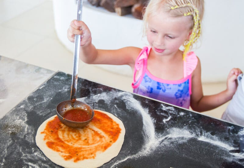 Pizza making classes is one of the activities on offer at the Movenpick Resort Boracay Island in the Philippines. You can read more about why we loved this family friendly resort in our blog