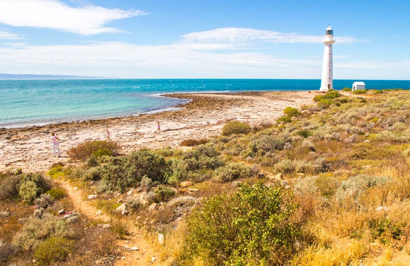 Point Lowly Lighthouse near Whyalla is a great thing to do on the Eyre Peninsula on your road trip with kids in South Australia. Click to read more tips