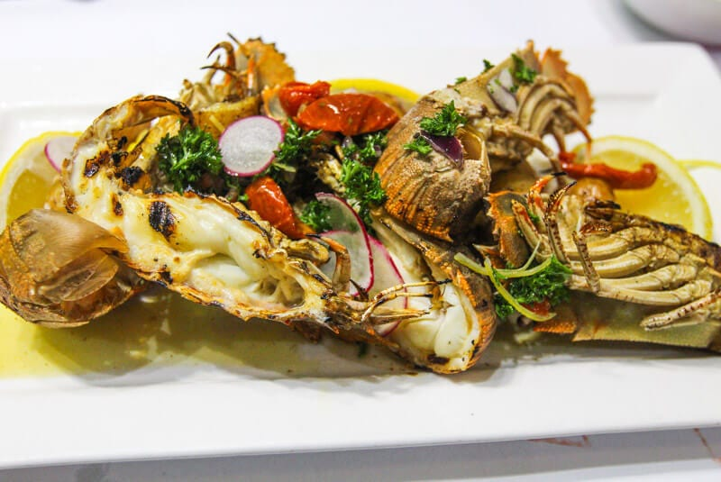 Delicious - BBQ Moreton Bay Bugs at 2Fish Restaurant, Port Douglas, Queensland, Australia