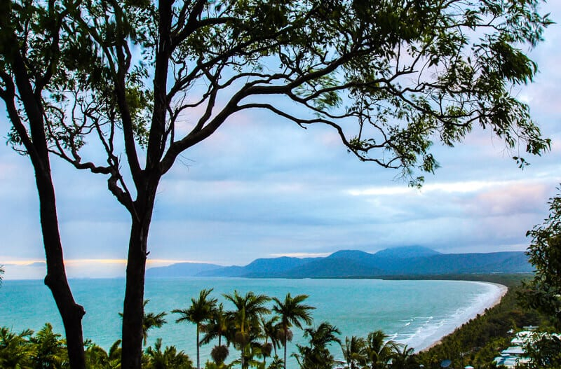 Lovely view of Four Mile Beach in Port Douglas from Flagstaff Hill Lookout