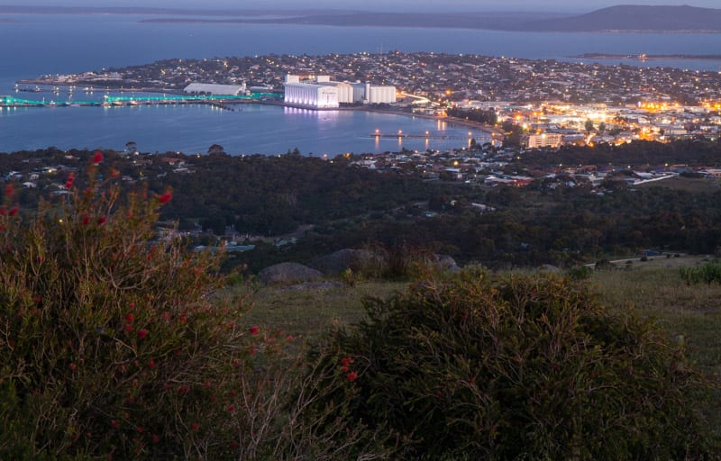 View of Port Lincoln in South Australia from Winters Hill Lookout
