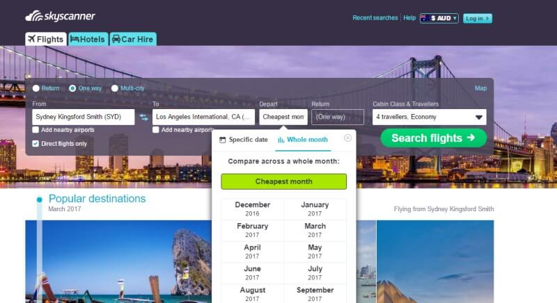 Finding flights by the cheapest month on Skyscanner. Click to read more useful tips on how to save time and money searching for flights