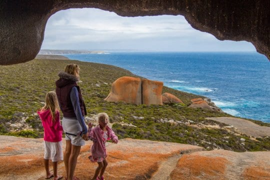 Remarkable Rocks in the Flinders Chase National Park is a highlight of Kangaroo Island. Click to read more things to do on a Kangaroo Island road trip