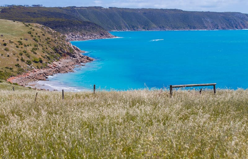 View from Zest and Thyme Cafe on the Dudley Peninsula of Kangaroo island in South Australia