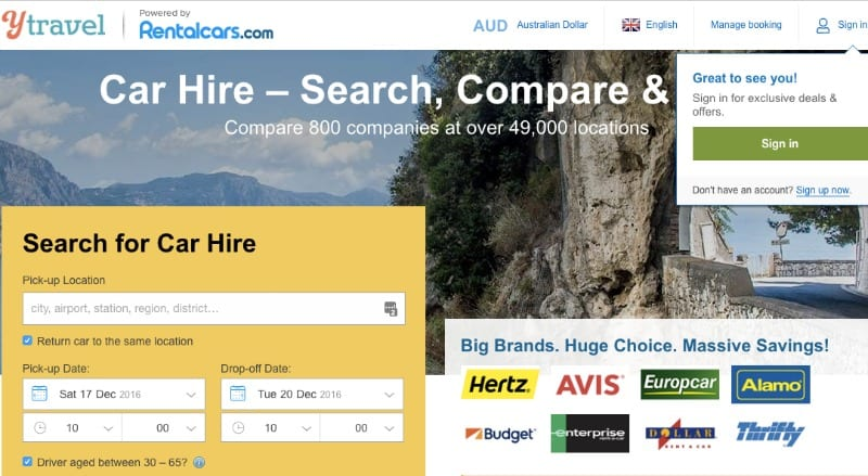 Car Rental for Gold Coast