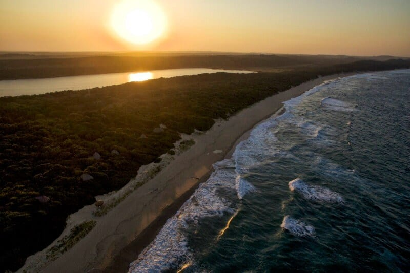 The coastline of Mozambique