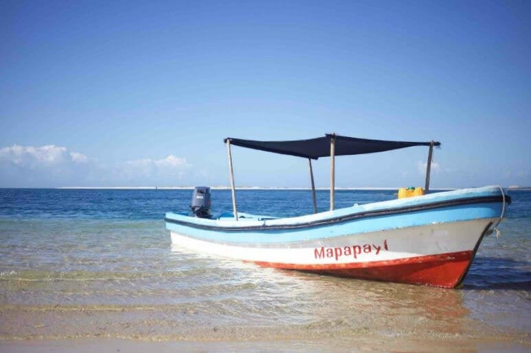 Traditional Dhow in Mozambique