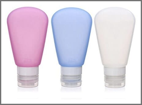 Portable Soft Silicone Travel bottles Set, FDA Certificated, TSA Approved 89ml 3 Pack