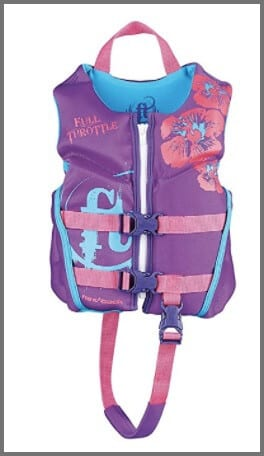 Full Throttle Child Hinged Rapid-Dry Flex-Back Life Jacket - one of the best travel gear for kids