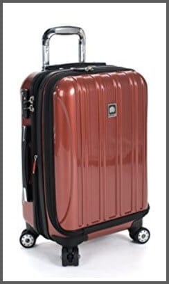 Delsey Luggage Helium Aero International Carry On Expandable Spinner Trolley - one of the best travel gear for kids!