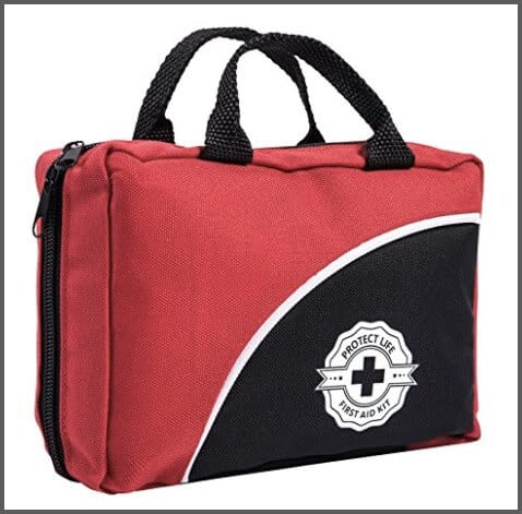 First Aid Kit for Emergency & Survival - Car, Home, Travel, Office or Sports - Compact Bag fully stocked with Medical Supplies