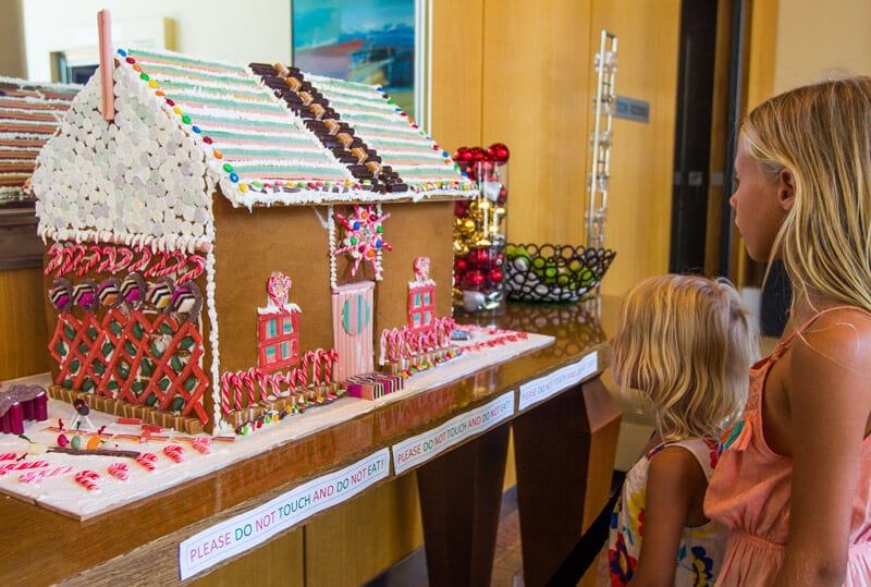 Ginger bread house in the lobby of Holiday Inn Sydney Airport