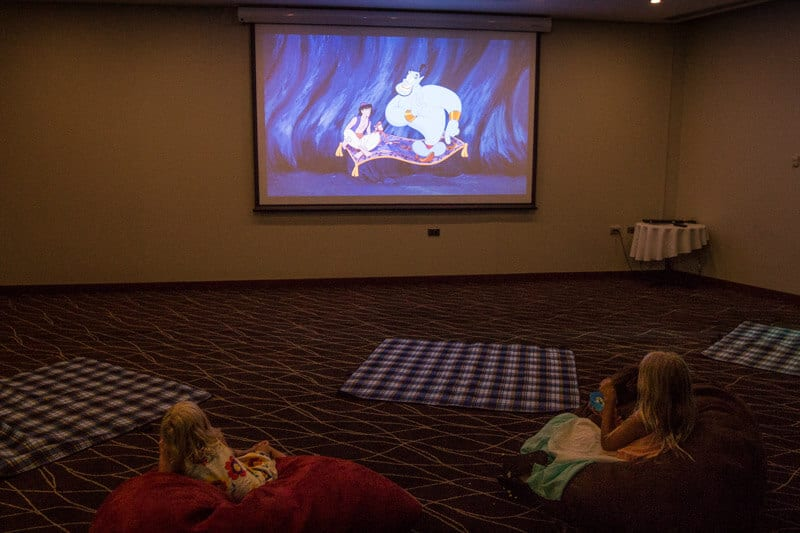 Aladdin on the big screen at Holiday Inn Sydney Airport
