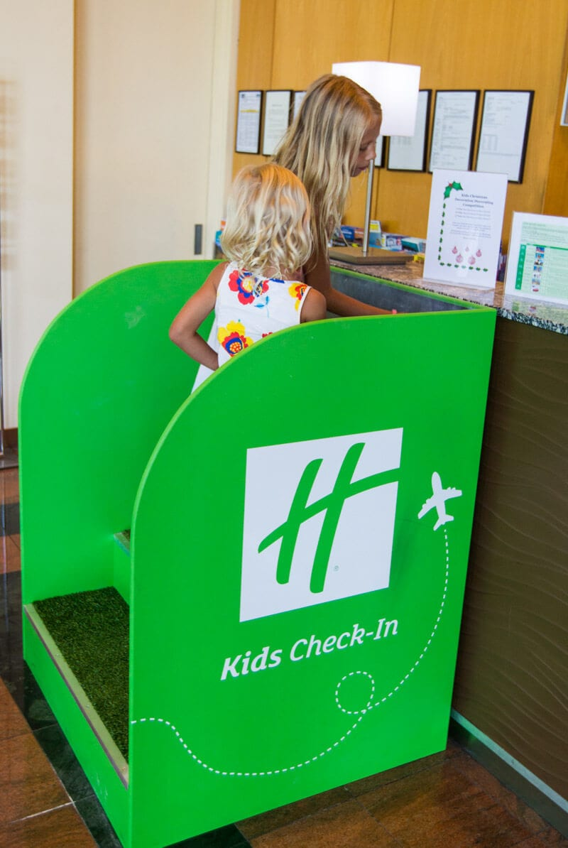 Kids check-in counter at Holiday Inn Sydney Airport