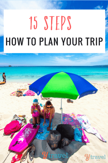 Planning a trip can be overwhelming and time-consuming. Use these 15 steps to plan your trip and take the stress out of booking your next vacation.