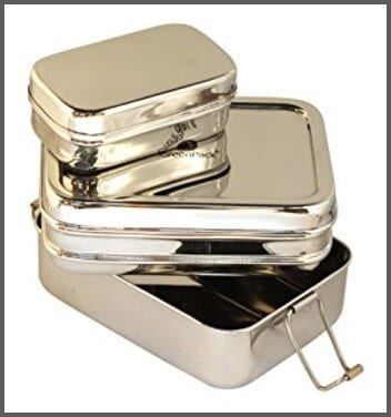 3-in-1 Lunch Box - Stainless Steel Meal Container with 3 Compartments