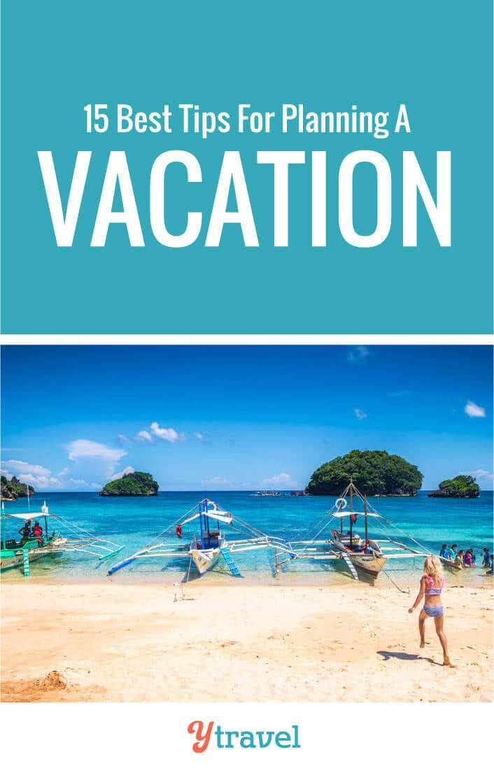 Travel planning can be overwhelming. Here are15 steps to plan a trip and take the stress out of booking your vacation. Tips include how to get deals on flights, accommodation, tours, rental cars and activities. Plus things like visas and passports. Don't plan a family vacation before reading these travel tips!