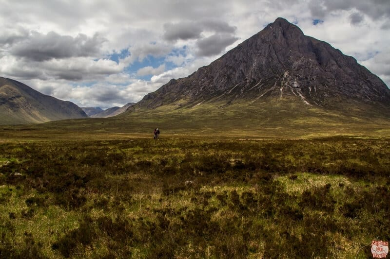 Buachaille Etive Mor - When you reach Glencoe, you will see the impressive Buachaille Etive Mor Mountain from far away (1022m). This is probably the most photographed peak in Scotland because of its wonderful triangular shape.