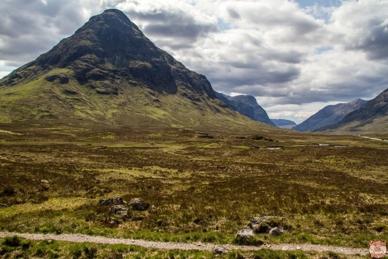 Etive Beag, Scotland - one of the best stops on the drive from Edinburgh to Isle of Skye is here, with a grandiose view of Glencoe.