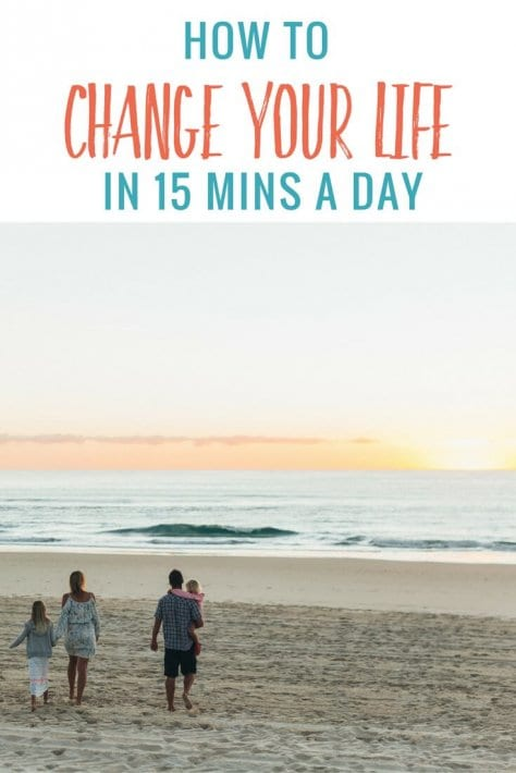 How to change your life in 15 minutes a day. Click to read simple tips to change your health, your finances, your career or anything you want to change. Happy Pinning