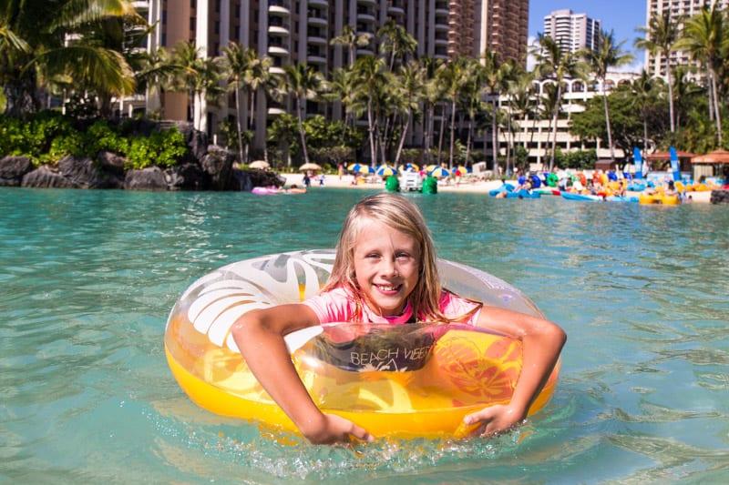 Travel with kids Hilton Hawaiian Village Waikiki Hawaii