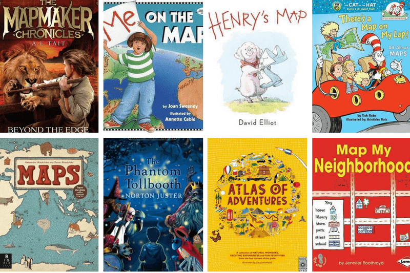 Modern Book Cover Map : Books for kids about maps