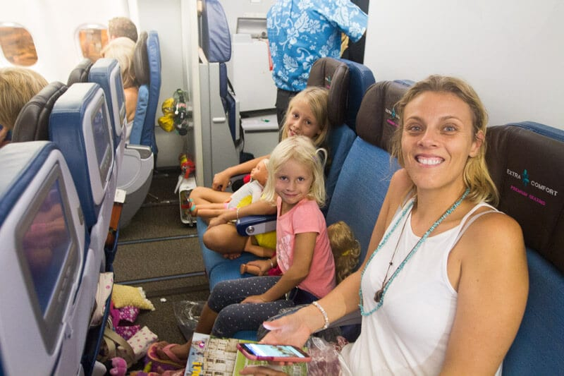 Extra Comfort seats flying to Hawaii on Hawaiian Airlines