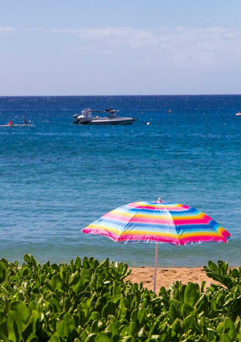 Kaanapali Beach on the island of Maui in Hawaii