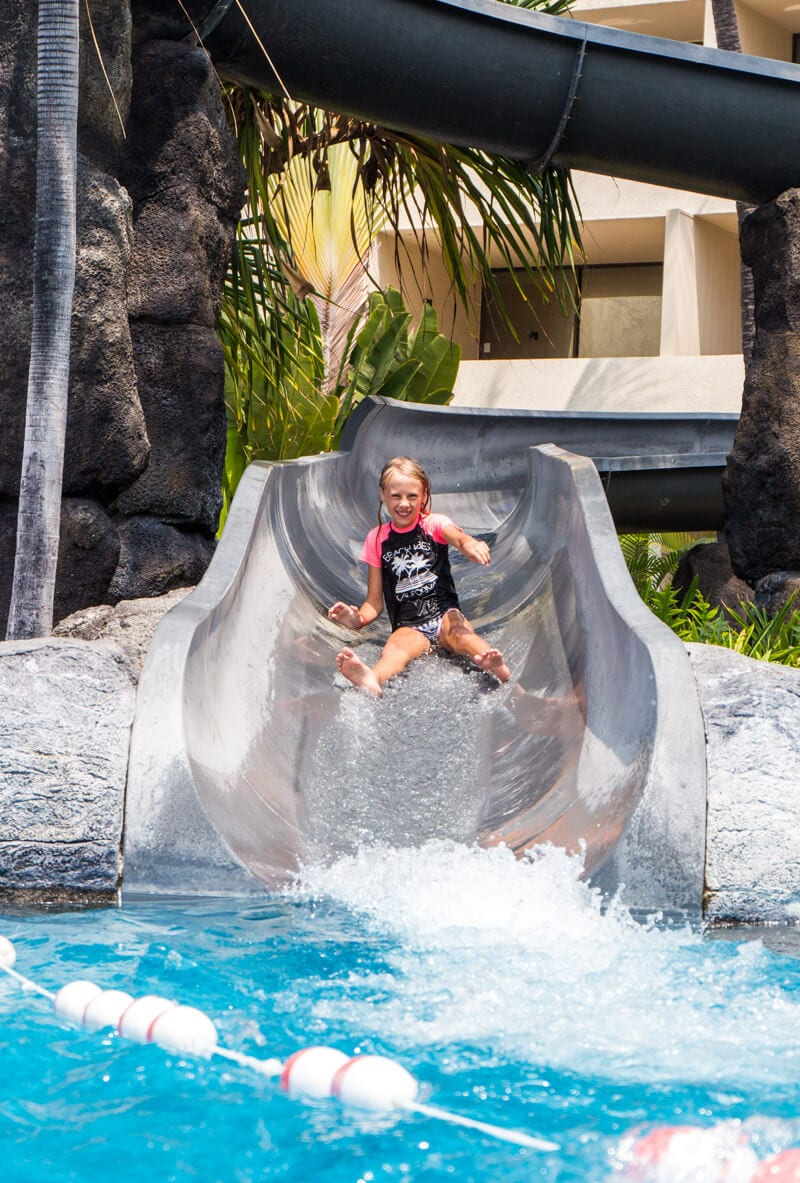 Waterslide at the Sheraton Kona on the Big Island of Hawaii