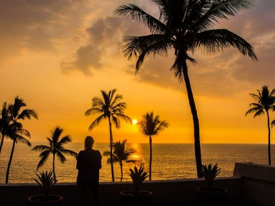 Sunset in Kona, Big Island of Hawaii