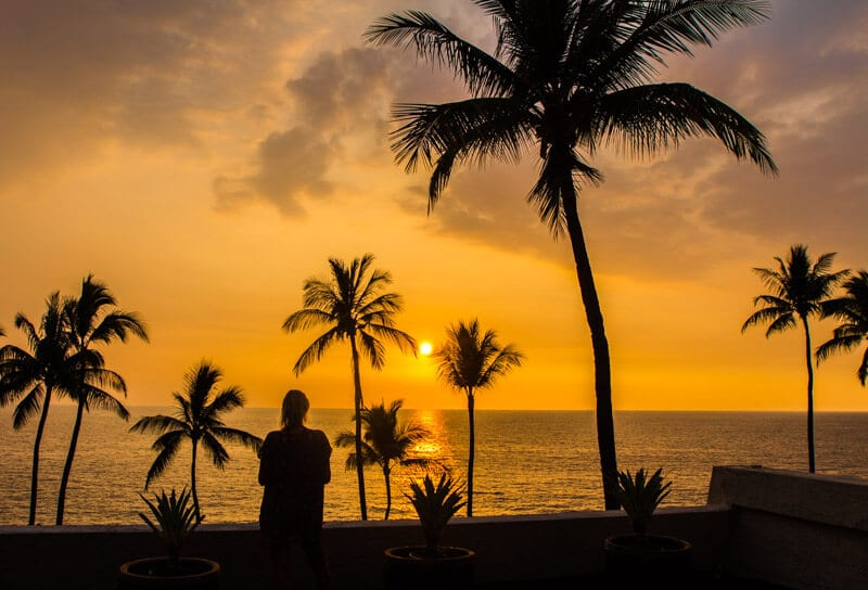 Sunset in Kona, Big Island of Hawaii