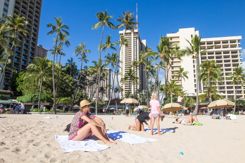 Relaxing on Waikiki Beach