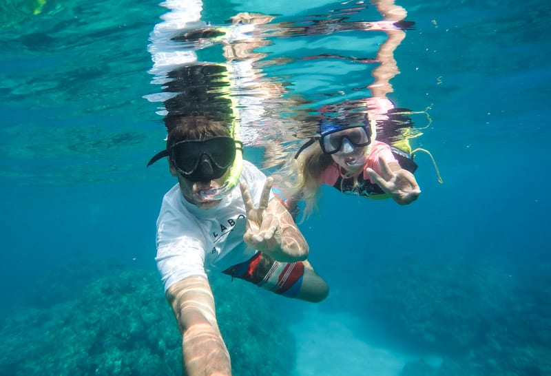Snorkeling at Kealakekua Bay on the Big Island of Hawaii