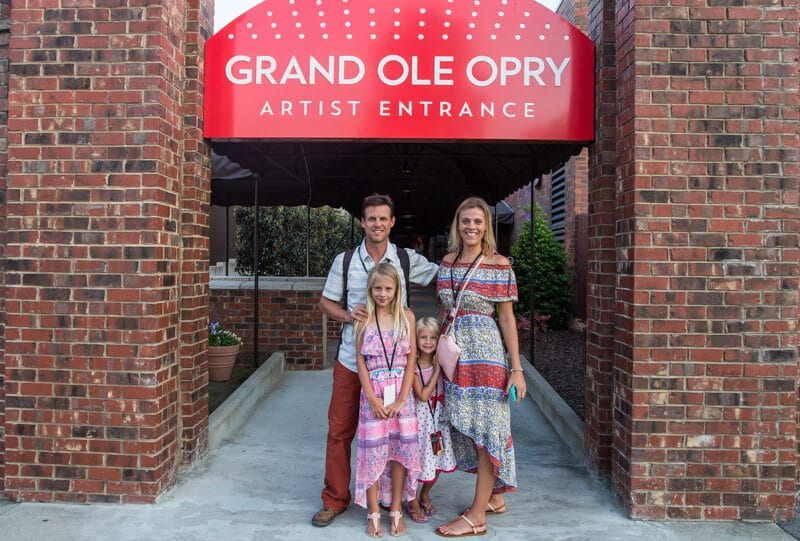 Grand Ole Opry backstage tour with kids