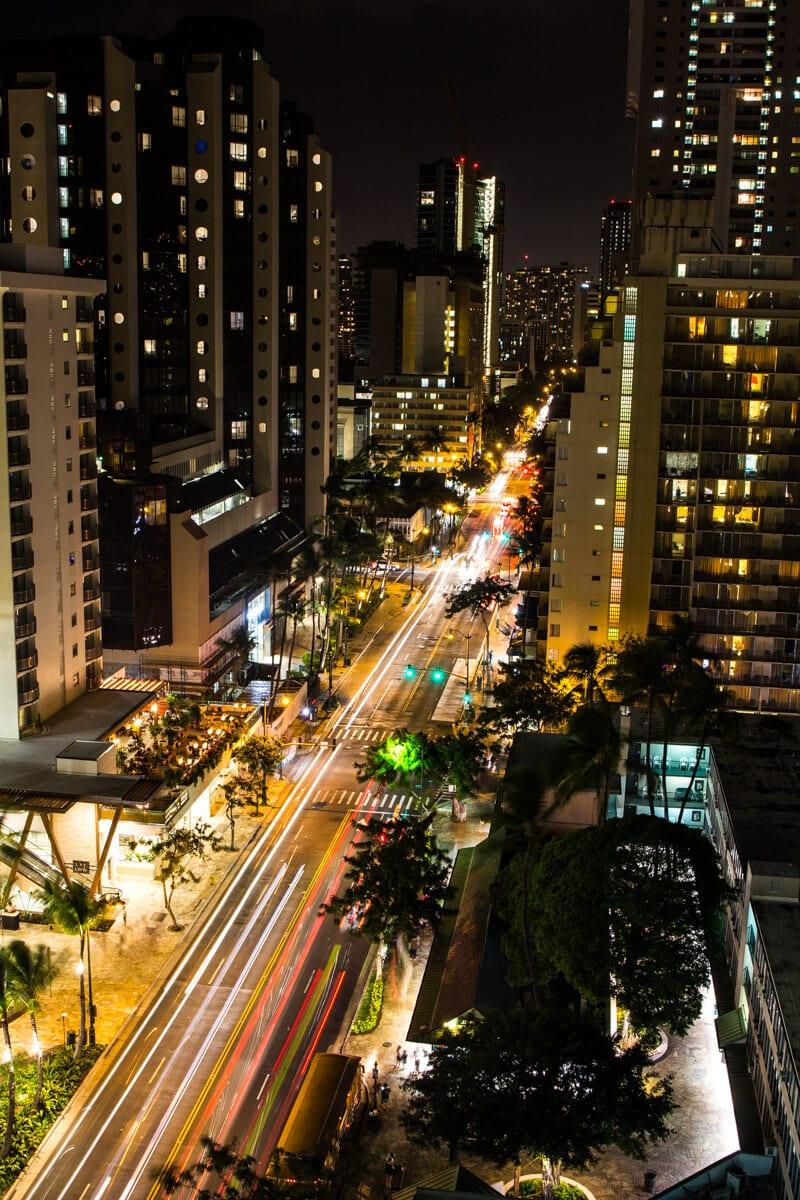 View of Waikiki from the Hilton Garden Inn