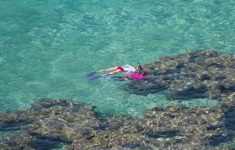 Snorkeling at Hanauma Bay - one of the best things to do in Hawaii with kids