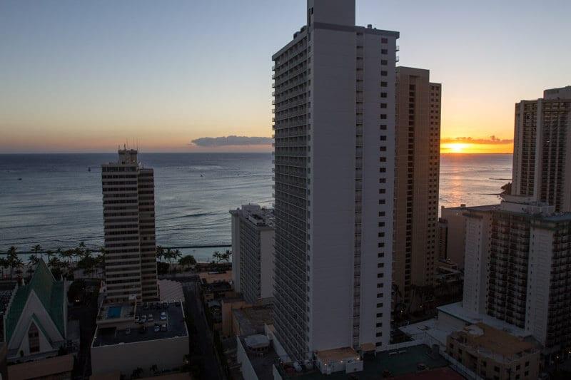 View from Hilton Waikiki Beach