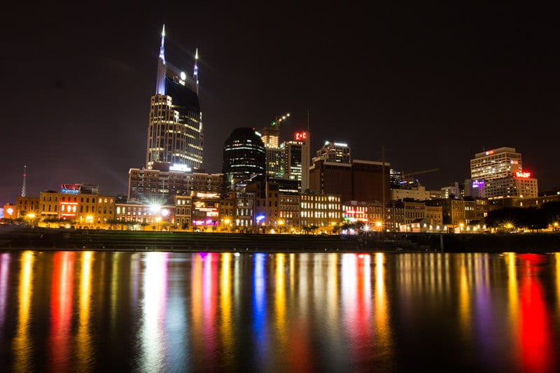 Nashville skyline at night