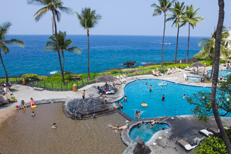 Awesome pool at Sheraton Kona, Hawaii