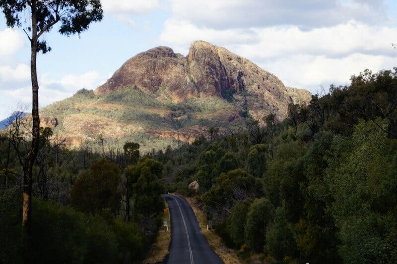 This is just part of the stunning scenery you can expect to see as you drive into the Warrumbungles National Park at Coonabarabran