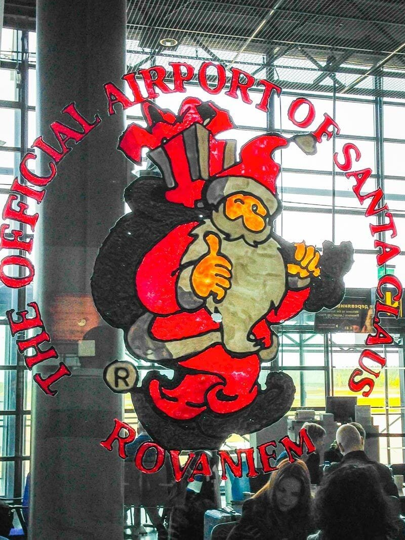 Arriving at the official airport of Santa Claus in Rovaniemi, Finland