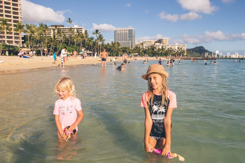 Waikiki Beach - one of the best free things to do with kids in Waikiki