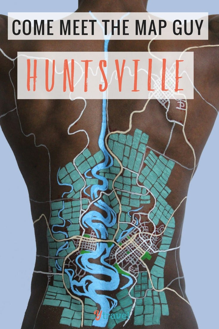 Do you like body art and cool artists? Check out the map guy in Hunstville. It's just one of the cool surprises and things to do in Huntsville Alabama Click to read more. Happy Pinning!